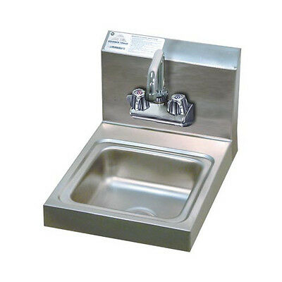 "Advance Tabco Economy 12"" x 16"" Single Wall Mounted Hand Sink with Faucet"