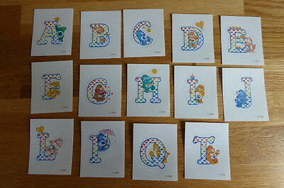 14 Panini Stickers Care Bears News Special Alphabet Stickers 1987