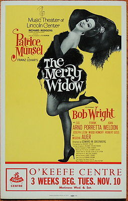 TRITON offers original 1964 Broadway tour poster THE MERRY WIDOW Patrice Munsel