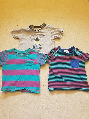 Bundle of boys t shirts 9-12 months