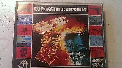 Commodore 64 c64 Epyx Impossible Mission tape cassette kassette