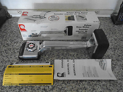 Roberts Carpet Tools Deluxe Knee Kicker No. 10-412 New In Box Never Used