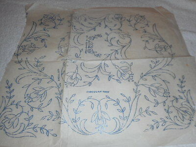 Vintage Embroidery Iron on Transfer- Flowers