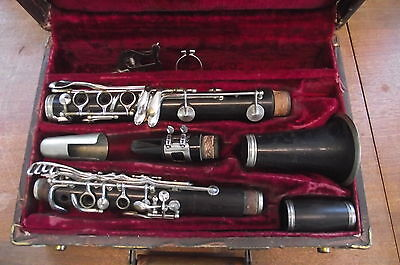 Vintage Richelieu Artist Professional Wood Clarinet W/ Original Case -Germany !!