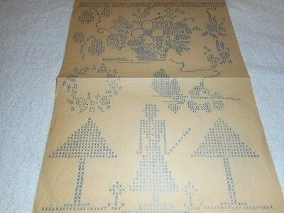 Vintage Embroidery Iron on Transfer- Weldons No.17982/ May 1933 -Flowers/Garden