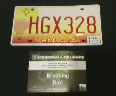 BREAKING BAD screen-used prop w/ COA ! Marie Schrader's Volkswagen License Plate