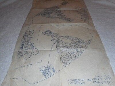 Vintage Embroidery Iron on Transfer-Needlewoman No. D621-D658-Cottages/Crinoline