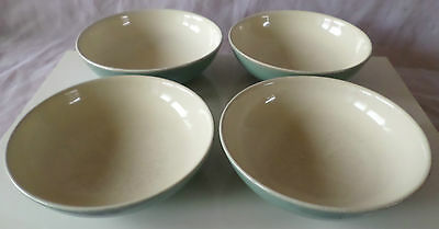 """Denby Manor Green 6.75"""" Soup/cereal Bowl X 4"""