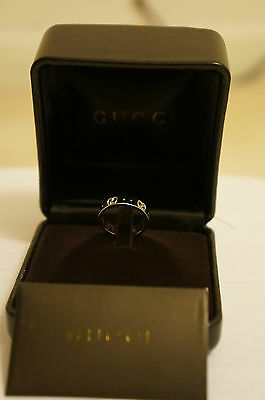 ***** Brand New Authentic Gucci 18K White Gold Icon Thin Band Ring Us 5.25 *****