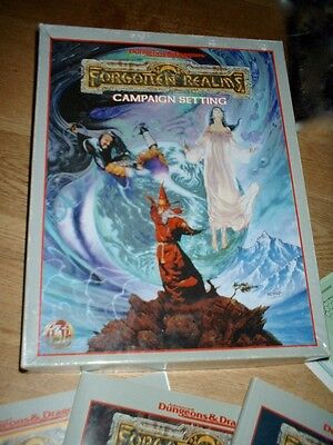 Dungeons & Dragons - Forgotten Realms campaign setting VGC incomplete