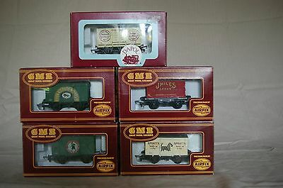 5x Airfix GMR 00 Gauge Private Owner Ventilated Vans