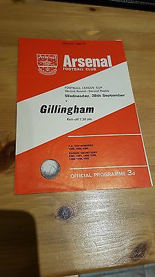 Arsenal V Gillingham 28.9. 1966 - League Cup 2nd Replay - Harder to obtain