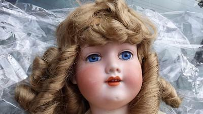 "24"" open mouth ANTIQUE GERMAN ARMAND MARSEILLE BISQUE HEAD DOLL"