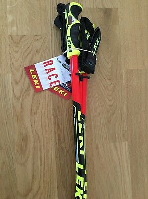 "Leki Ski Poles WORLD CUP GS-TBS 130cm-52""..Trigger S straps INCLUDED!"
