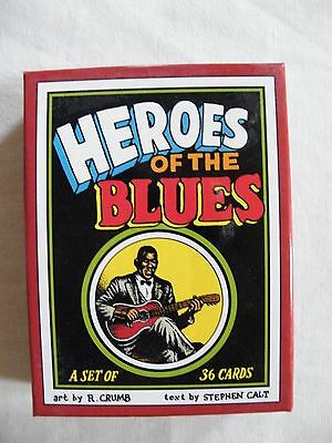 R Crumb Heroes of the Blues 36 boxed trading cards VGC comic robert fritz