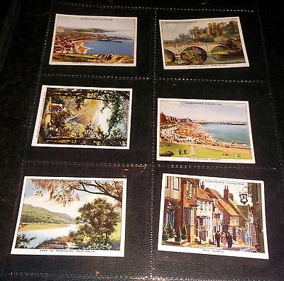6 Churchmans Cigarette Cards Holidays In Britain