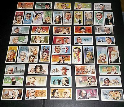 50 Brooke Bond Tea Cards Famous People