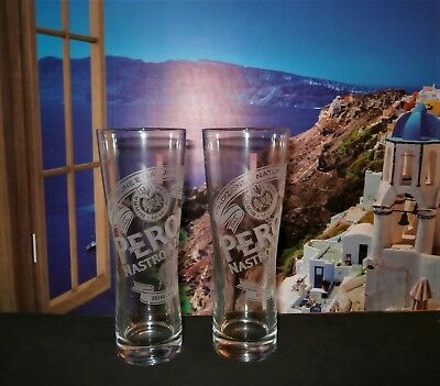 Set Of 2 Peroni Nastro Azzurro Half Pint Glasses  Brand New 100% Genuine