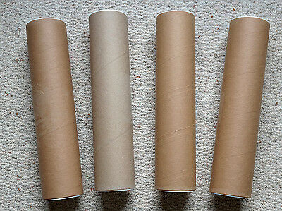 FOUR POSTAL TUBES with PLASTIC END CAPS.