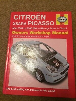 Citroen Xsara Picasso 04 To 58 Haynes Manual