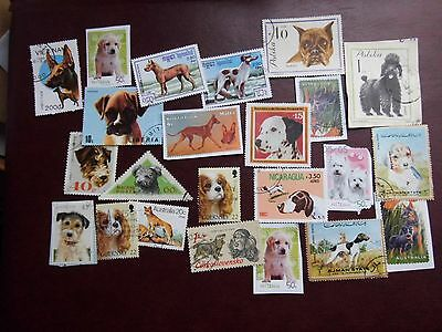Collection LOT - DOGS on stamps THEMATICS - used ON & OFF PAPER