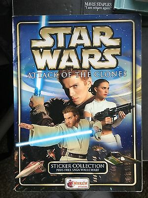 "Merlin ""Star Wars; Attack of the Clones"" sticker album 85.98% complete (2002)"
