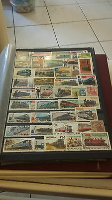 Timbres Thematique Trains