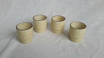 Poole Pottery Broadstone EGG CUPS x4. 5cm high
