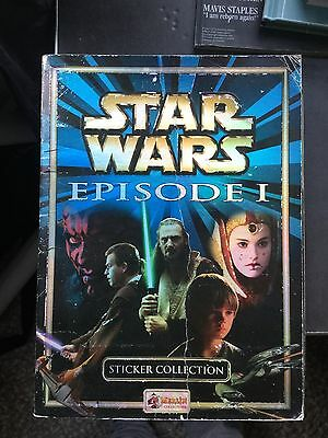 "Panini ""Star Wars; Episode 1"" sticker album 97.99% complete (1999)"