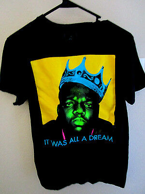 NOTORIOUS B.I.G. Size Meduim It Was All a Dream T- Shirt