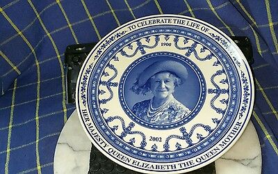 Wegdwood Commerative Celebration of Life Plate  of H.M Elizabeth Queen Mother