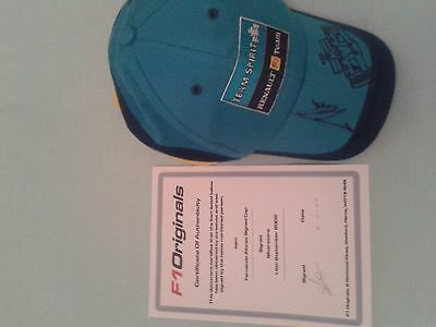 fernando alonso signed renault f1 cap