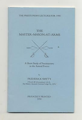 Booklet – The Prestonian Lecture 1990 – Master Mason At Arms