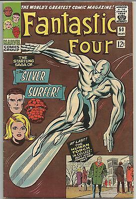 Fantastic Four #50 Iconic Silver Surfer cover! 6.5-7.5 est grade. lovely copy!