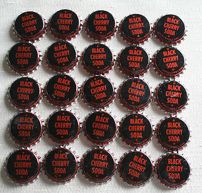 Lot of 75 BLACK CHERRY Soda Pop Bottle Caps - SHAW Norfolk NE