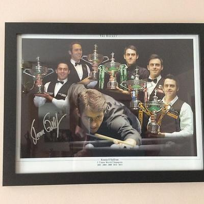 Signed and Framed 16 X12 Photo  Ronnie O' Sullivan Proof COA