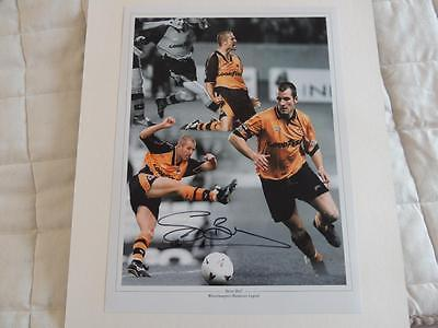 Signed 16x12 Montage Photo Signed by Steve Bull Wolves Proof COA