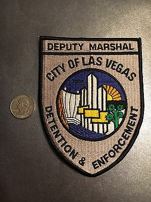 Las Vegas Nevada Deputy Marshal Detention And Enforcement  Police Patch Nv