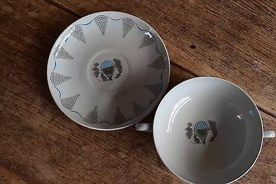 ERIC RAVILIOUS SOUP BOWL AND SAUCER PLATE FOR WEDGWOOD art deco 30s 40s