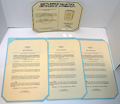 Battlestar Galactica Authentic TV Show Prop Prop Writs of Forfeiture