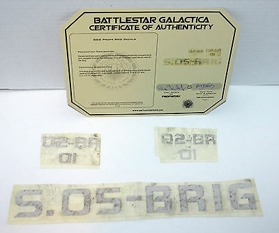 Battlestar Galactica Authentic TV Show Prop Prop Brig Decals screen used