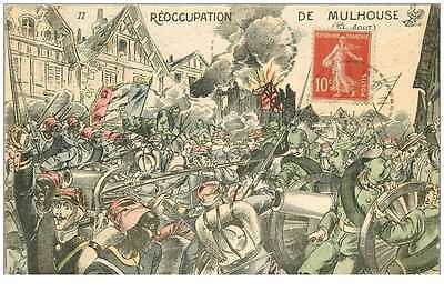 (PH) NEW CPA 68 ***  REOCCUPATION DE MULHOUSE *** GUERRE &amp  MILITAIRES &
