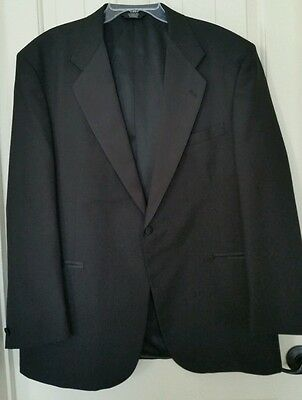 BARRY Black Notched Lapel Single Breasted Tuxedo Formal Jacket Size 48R CLASSIC