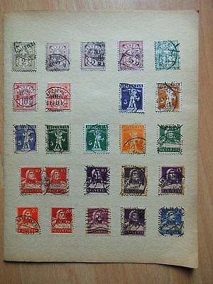 Collection LOT Swiss stamps USED 2 sides Switzerland stamps HELVETIA unchecked