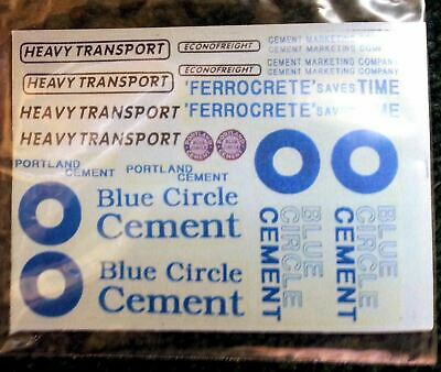 Blue Circle Cement OO Scale 1:76 Waterslide Transfers T8
