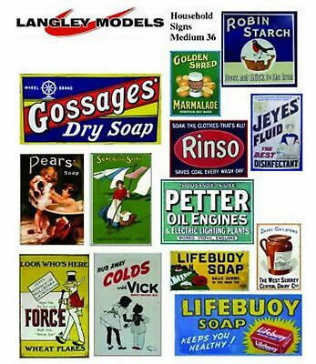 Household Adverts Medium Paper Copies old Enamel OO Scale Decals SMF36