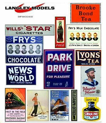 Station adverts Med Paper Reproductions old Enamel Signs OO Scale 1:76 SMF18n