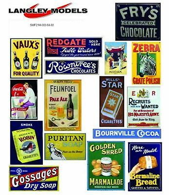 Street adverts Med Paper Reproductions old Enamel Signs OO Scale 1:76 SMF21n