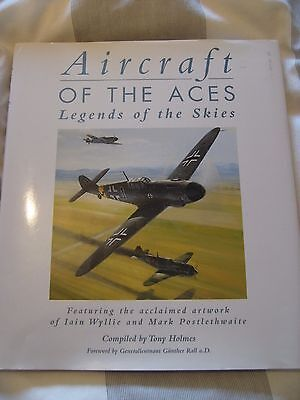`aircraft Of The Aces,legends Of The Skies`signed By 4 Ww2 Fighter Pilots