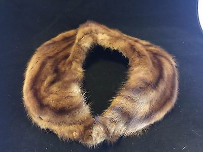 Vintage 1950's Mink Fur Collar with hook closure